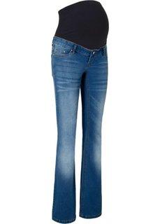 Расклешенные джинсы для беременных (синий «потертый») Bonprix