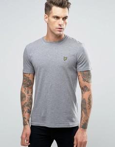 Серая меланжевая футболка с логотипом Lyle & Scott - Серый