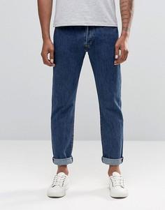 Прямые джинсы из стиранного денима Levis 501 - Синий