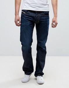 Темные джинсы прямого кроя Diesel Larkee 0806W - Синий