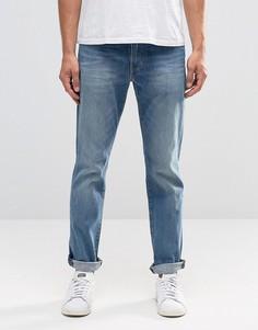 Суженные книзу выбеленные джинсы Levis 511 Harbour - Синий