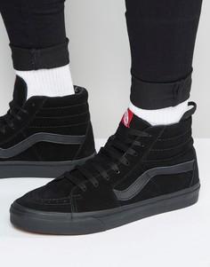 Черные замшевые кроссовки Vans Sk8-Hi VD5IBKA - Черный