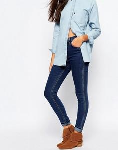 Зауженные джинсы с высокой талией Levis Line 8 Rebel - Синий