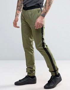 Супероблегающие строгие джоггеры цвета хаки ASOS - Зеленый