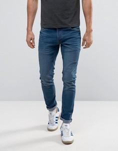 Синие выбеленные джинсы узкого кроя из эластичного денима Solid - Черный !Solid