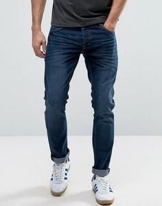 Темно-синие узкие эластичные джинсы Solid - Черный !Solid