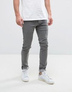 Выбеленные серые джинсы скинни Solid - Серый !Solid