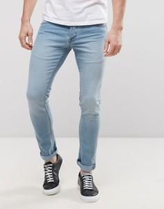 Светлые зауженные джинсы Solid - Синий !Solid