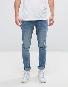 Голубые выбеленные узкие джинсы Solid - Синий !Solid