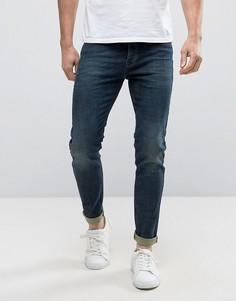 Синие выбеленные джинсы скинни United Colors of Benetton - Синий