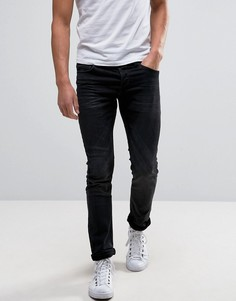 Черные выбеленные узкие джинсовые джоггеры стретч Only & Sons - Серый