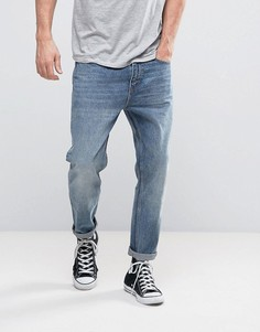 Выбеленные укороченные джинсы Rollas Stubs - Синий