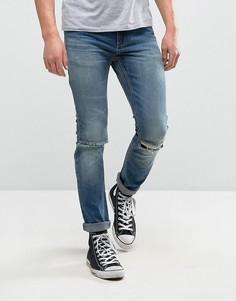 Узкие джинсы Rollas Thin Captain - Синий