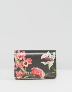 Маленький кошелек с цветочным принтом Ted Baker - Черный