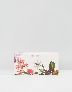 Белый кошелек с цветочным принтом Ted Baker - Розовый