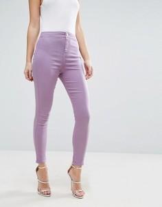 Джинсовые джеггинсы с завышенной талией выбеленного сиреневого цвета ASOS RIVINGTON - Фиолетовый