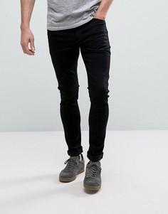 Черные джинсы с напылением ASOS - Черный
