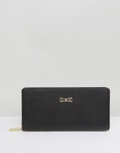 Бумажник на молнии с металлическим бантом Ted Baker Matinee - Черный