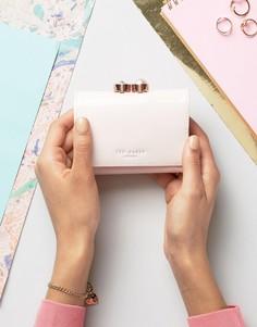 Лакированный небольшой кошелек с искусственным жемчугом на застежке Ted Baker - Розовый