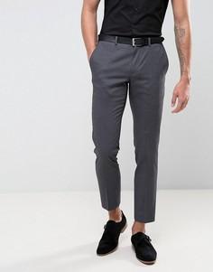 Серые фактурные брюки скинни под смокинг Burton Menswear - Серый