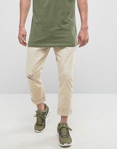 Белые джинсы слим Esprit - Белый