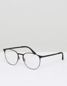 Круглые солнцезащитные очки Ray-Ban 0RX6375 - Черный