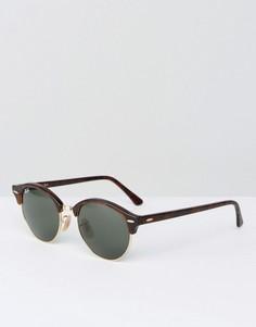Круглые солнцезащитные очки Ray-Ban 0RB4246 - Коричневый