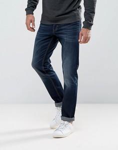 Синие выбеленные эластичные джинсы классического кроя United Colors of Benetton - Синий