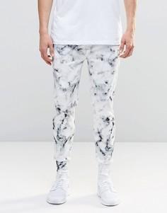 Джоггеры с мраморным принтом N1SQ - Белый