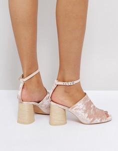 Босоножки на каблуке ASOS TAPER - Розовый