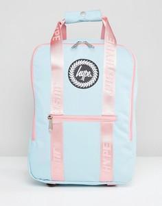 Голубой рюкзак с розовыми ремешками Hype - Синий