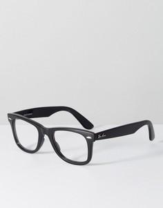 Черные очки-вайфареры Ray Ban - Черный