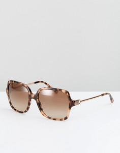 Солнцезащитные очки в квадратной черепаховой оправе Michael Kors - Коричневый