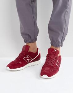 Красные замшевые кроссовки New Balance 996 MRL996DU - Красный
