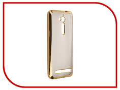 Аксессуар Чехол ASUS ZenFone Go ZB500KL SkinBox Silicone Chrome Border 4People Gold T-S-AZZB500KL-008