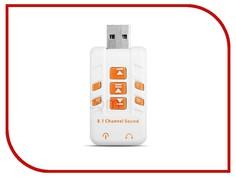 Звуковая карта Orient AU-01PLW 2x3.5mm jack to USB White