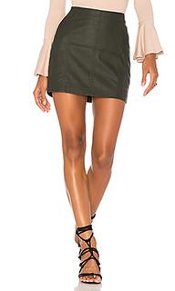 Мини юбка из искусственной кожи modern femme - Free People