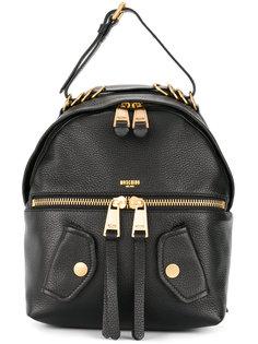 кожаный байкерский рюкзак Moschino