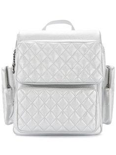стеганый рюкзак с логотипом Chanel Vintage