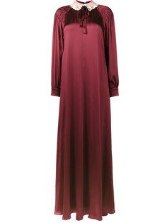 платье с отделкой на воротнике  Valentino