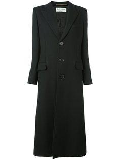 приталенное однобортное пальто Saint Laurent