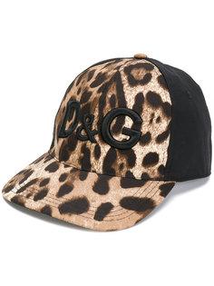 кепка с леопардовым принтом Dolce & Gabbana