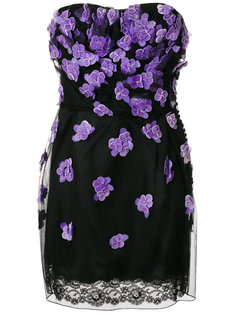 strapless flower dress Christian Dior Vintage
