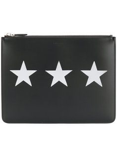 клатч с принтом со звездами Givenchy