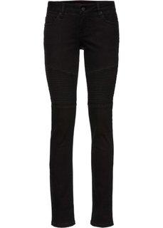 Байкерские джинсы Skinny (черный) Bonprix
