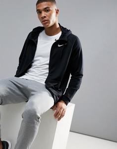 Худи черного цвета из флиса Nike Training Dri-FIT 860465-010 - Черный
