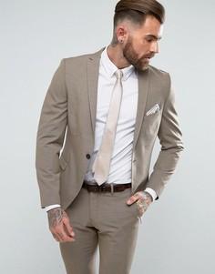 Пиджак зауженного кроя Selected Homme - Светло-серый