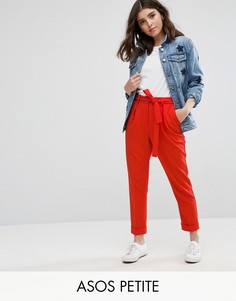 Тканые брюки-галифе с поясом оби ASOS PETITE - Красный