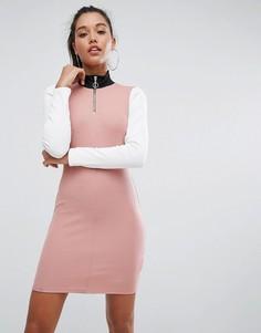 Платье в стиле колор блок ASOS - Мульти