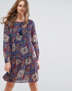 Платье-туника с кисточками на завязках Anmol - Синий